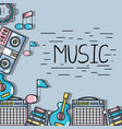 music elements to play harmony rhythm vector image