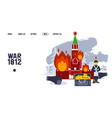 napoleonic war in history russia kremlin in vector image