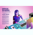 office woman art vector image