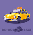 old vintage yellow taxi vector image