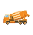Orange truck concrete mixer icon cartoon style vector image vector image