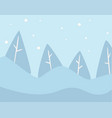pine tree winter landscape with snowy hills vector image vector image