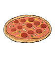 pizza sausage mushrooms vector image