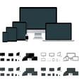 realistic laptop desktop computer mobile vector image vector image
