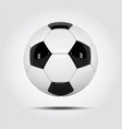 Realistic soccer ball or football ball on white