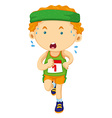 Runner looking tired in race vector image vector image