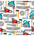 seamless pattern with equipment and tools for vector image