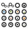 Set of gear wheel logos vector image