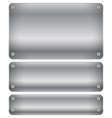 set of shaded metal plates plaques with rivets