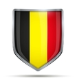 Shield with flag Belgium vector image