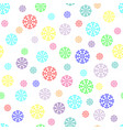 snowflake chaotic seamless pattern 411 vector image vector image