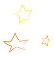 stars drawing on white background vector image vector image