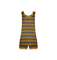 Striped retro swimsuit in brown and black design vector image vector image