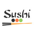 sushi logo template design bar restaurant vector image