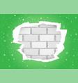 torn green wallpapers brick wall vector image vector image