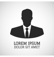 user icon man in business suit vector image