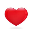 valentine red heart icon vector image