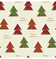 vintage Christmas seamless with Christmas Trees vector image vector image