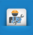 worker icon vector image vector image
