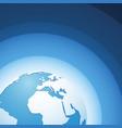 world globe europe blue wave background vector image