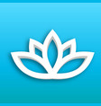 lotus flower 3d icon on blue gradient background vector image