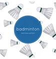 shuttlecocks - badminton concept hand drawn vector image