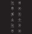 81 hipster logo set vector image vector image