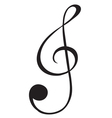 A G-clef sign vector image vector image