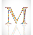 Abstract letter M vector image vector image