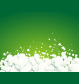 abstract white bubbles on green background vector image