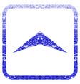 arrowhead up framed textured icon
