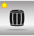 barrel black icon button logo symbol vector image