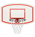 Basketball net and hoop vector image