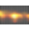 black orange yellow abstract rounded mosaic vector image vector image