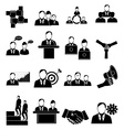 Business people icons set vector image vector image