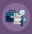 Business process icons set of portfolio cv vector image vector image