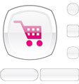 Buy white button vector image vector image