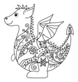 Cartoon Dragon outline vector image vector image