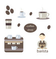 coffee set on a white background vector image