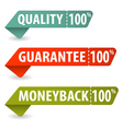 Collect Quality Signs vector image vector image