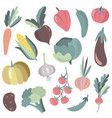 collection colorful fresh cartoon vector image vector image
