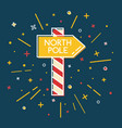 colored north pole waypost icon in thin line style vector image vector image
