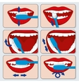 Correct tooth brushing infographics vector image vector image