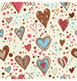 Cute doodle seamless wallpaper vector image vector image