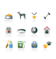 dog accessory and symbols icons vector image vector image
