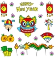 Doodle of Chinese celebration dragon lion costume vector image vector image