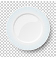 empty classic white dish with wavy blue patterns vector image vector image