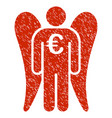 euro angel investor icon grunge watermark vector image vector image