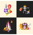 Fairy tales flat design magic cartoon characters vector image