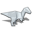 figure of a dinosaur in origami style isolated vector image vector image